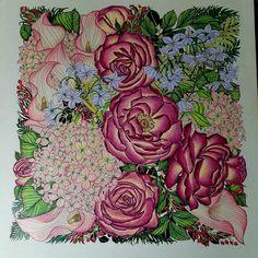 Colors of Love....UNI colored pencils.. #floribunda #leiladuly #beautifulcoloring #adultcoloringbook #adultcolorinforum #creatively #divasdasartes #valentines #coloringmasterpiece #addictedtocoloring