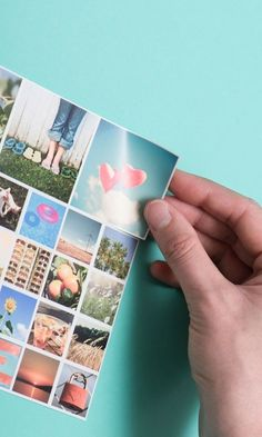 Diy Crafts Ideas : These cute stickers can be made with photos from your Instagram camera-roll or