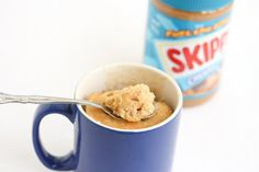 Peanut Butter Mug Cake (low-fat version) | Kirbie's Cravings | A San Diego food & travel blog