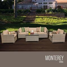 TKC Monterey 6 Piece Outdoor Wicker Patio Furniture Set *** Click the VISIT button to view the swimwear details