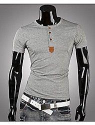 Men's Casual Pure Short Sleeve Regular T-Shirts (... – USD $ 16.79