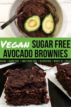 Vegan Sugar Free Avocado Brownies - My Planted Plate