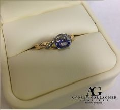 (7/01/15) 50% OFF! 14K Yellow and White Gold Horizontal Oval Cut Tanzanite and Diamond Ring. The Tanzanite is 6mm x 4mm in size. Original Retail Price: $710.00 SALE PRICE: $355.00. Item#: 28-9239| Call Andrew Gallagher Jewelers at 302-368-3380 for more information. We SHIP!! | #50OffJewelryCase