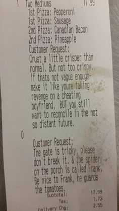 The greatest customer request
