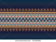 Geometric ethnic pattern design for background or wallpaper. Thai Design, Mens Designer Shirts, Ethnic Patterns, Illustrations, Geometric Designs, Loom Beading, Aztec, Embroidery Designs, Pattern Design