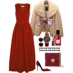 A fashion look from January 2015 featuring Preen dresses, Christian Dior jackets and Christian Louboutin pumps. Browse and shop related looks.