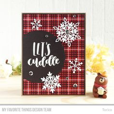Triple Stripe Background   Die-namics: A2 Stitched Rectangle STAX Set 1 & 2, Layered Snowflakes, Stitched Dome STAX — Torico #mftstamps