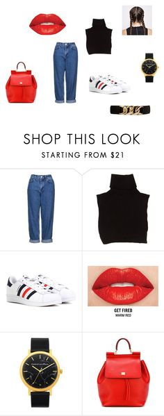 """""""Untitled #60"""" by d-divaa on Polyvore featuring Topshop, Marc Jacobs, adidas, Smashbox, Dolce&Gabbana and Forever 21"""