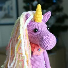 Let's create a fairy crochet unicorn together! The Shy Unicorn Amigurumi Pattern is designed for advanced skill level crocheters.
