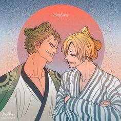 Zoro and Sanji Zoro One Piece, One Piece Comic, One Piece Ship, One Piece Fanart, Anime Couples Manga, Cute Anime Couples, Anime Girls, Manga Anime One Piece, Watch One Piece