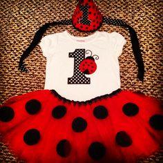 Birthday outfit, ladybug first birthday