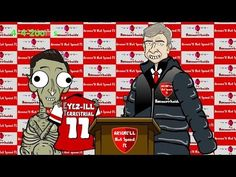 Wenger and Ozil in ET REMAKE by 442oons (Arsenal football cartoon)