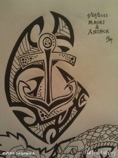 anchor | Maori and anchor - Tattoo Artists.org