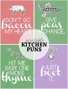 *Free* Kitchen Pun Printables