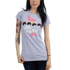 The Beatles - Womens Hard Days Night Neon T-Shirt