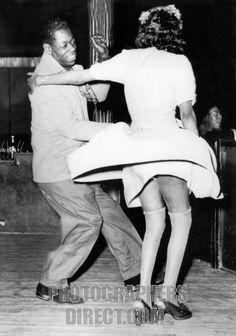 Savoy Ballroom in Harlem , New York , 1947 . Man and woman dancing ...