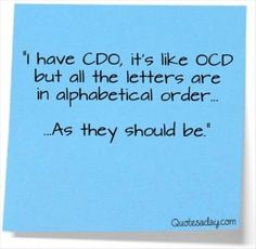 funny quotes, ocd