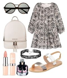 """""""Untitled #6839"""" by ohnadine on Polyvore featuring Rebecca Taylor, Ancient Greek Sandals, MICHAEL Michael Kors and Yves Saint Laurent"""