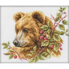 "Bear Counted Cross Stitch Kit-11.75""X9.75"" 14 Count"