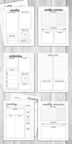 Idées de pages pour faire un bullet journal Planner Free, To Do Planner, Planner Template, Planner Pages, Printable Planner, Monthly Planner, Planner Inserts, Daily Printable, Bullet Journal Layout Templates