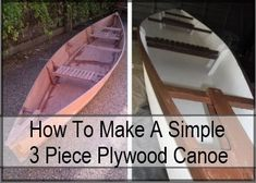 How To Make A Simple Plywood Canoe #buildaboat