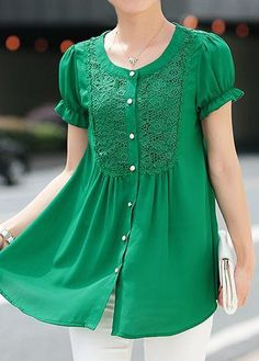 Diy clothes for women shirts button up ideas Kurta Designs, Blouse Designs, Fancy Tops, Ladies Dress Design, Diy Clothes, Blouses For Women, Tunic Tops, Fashion Outfits, Dresses
