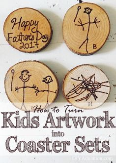 Find out how to turn kids artwork into coaster sets and create a beautiful keepsake that family and friends will cherish! #ad
