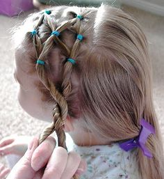 Shaunell's Hair: Little Girl's Hairstyles - Side Puffy Braid with Twist Braid 10-15 min