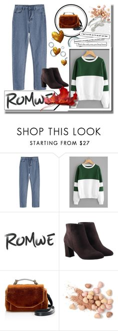 """""""Romwe style"""" by ukrstenica123 ❤ liked on Polyvore featuring Avon, Maje and Too Faced Cosmetics"""