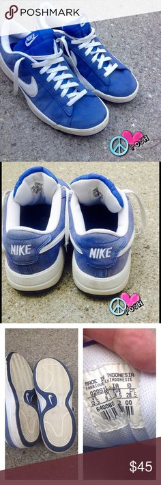 Men's Nike Sneakers ☮ Men's Nike ( Suede Like ) Sneakers - Size 10.5  Royal Blue w/ White SWOOSH - Gently Used Condition - Questions? Please ask ☮ ❌❌ NO TRADE ❌❌ Nike Shoes Sneakers