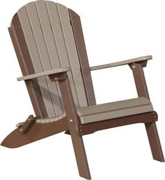 LuxCraft Poly Folding Adirondack Chair Strong, colorful comfy poly makes for an exceptional chair outside. Full of Adirondack comfort and foldable so you can take it with you easily!