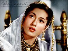 Madhubala as Anarkali by xSixty-3ight.deviantart.com on @DeviantArt