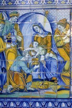 La Adoración de los Magos, de cerámica de Talavera de la Reina Spain