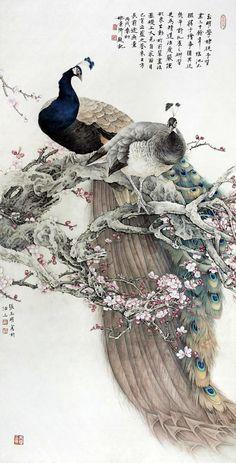 【国画】张玉明的花鸟作品
