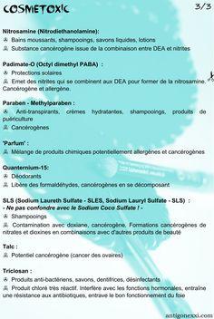 Cosmétoxic -  liste de composants dangereux pour soi ou pour la planète pour permettre de décrypter les étiquettes des produits que l'on s'applique allègrement sur la peau Lotion, Simple, Herbs, Diy, Cosmetics, Info, Monkey, Routine, Healthy Food