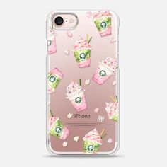 Watercolor Cherry Blossoms Sakura by imushtore - Snap Case