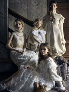 four sisters: hedvig, liv, fia and tuva by elisabeth toll for scandinavia ssaw