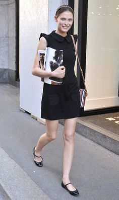 the black dress and repetto flats! Nice!!!