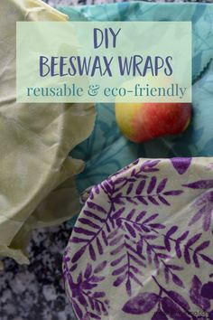 DIY Beeswax Wraps - This easy tutorial shows you how to make homemade beeswax food wraps to use as an eco-friendly, zero waste alternative to plastic wrap or baggies. They are simple to make and are reusable many times over. | #beeswax #DIY #zerowaste #reusable #ecofriendly #handmade #foodwrap