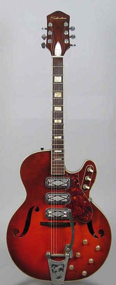 Vintage ~ Silvertone 1454 3 pick-up electric guitar