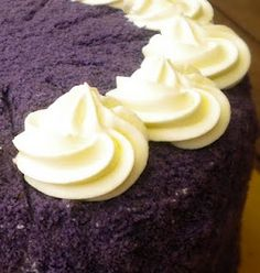 Purple Yam Cake...just in case I ever find the time to make this (Ube cake)