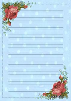 """""""My love is the red rose"""" Printable Lined Paper, Free Printable Stationery, Journal Paper, Journal Cards, Lined Writing Paper, Framed Wallpaper, Borders For Paper, Paper Frames, Stationery Paper"""