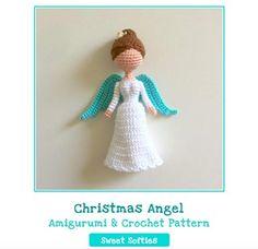 Christmas Angel Doll - Amigurumi Crochet Art Doll Pattern and Tutorial (Darling Dolls)