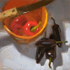 Two Kinds of Hot, painting by artist Carol Marine