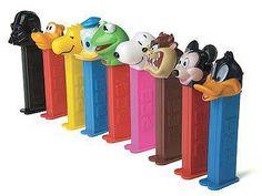 Nostalgia - Pez dispensers - Classic Toys Still have a couple! Retro Vintage, Vintage Candy, Vintage Toys, 90s Childhood, My Childhood Memories, Sweet Memories, 90s Toys, Retro Toys, Good Old Times