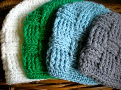 PATTERN  Triscuit Hat basket weave beanie woven easy by swellamy, $4.99