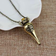 Harry Potter Felix Felicis Potion Bottle Pendant Necklace