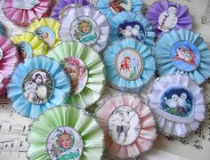 Pastel Christmas Crepe paper medallions