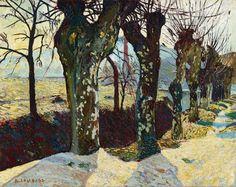 Painting is Poetry — huariqueje:    Platanes en hiver, Auriol , Plane...