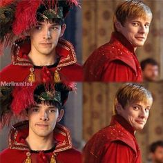 Merlin and Arthur I love this part. I love this episode. I love this show. Colin Morgan, Best Tv Shows, Best Shows Ever, Favorite Tv Shows, Bradley James, Merlin And Arthur, King Arthur, Merlin Serie, Merlin Cast